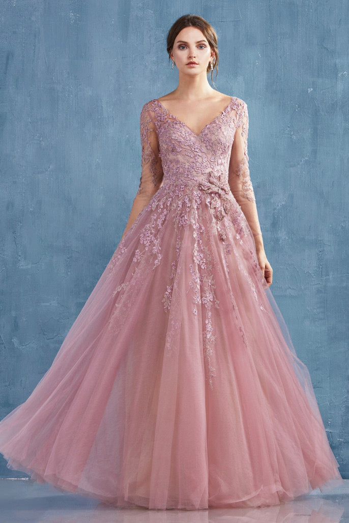 AL Zoe Cherry Blossom Pink Gown