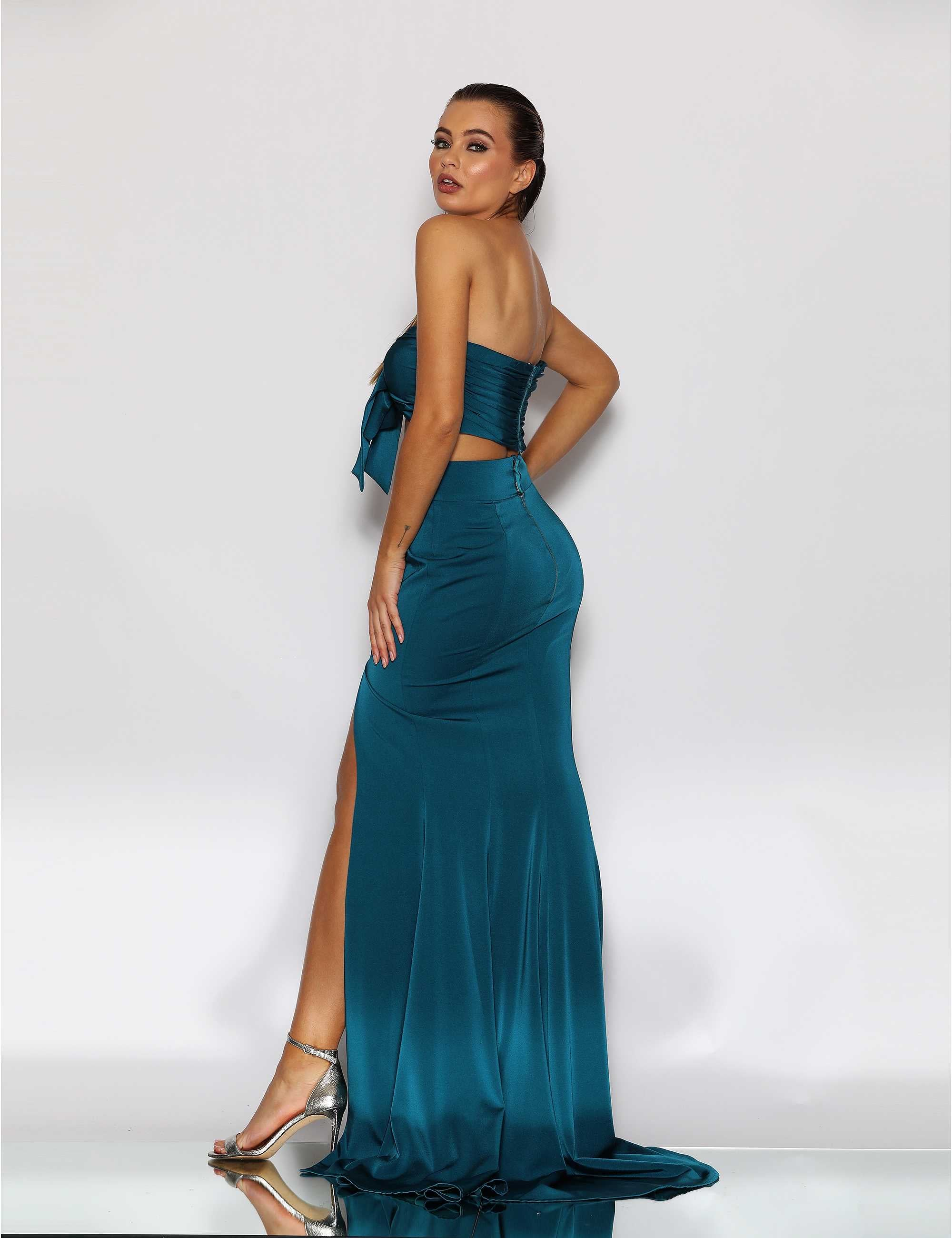 JA Candice Bow Blue Set Gown