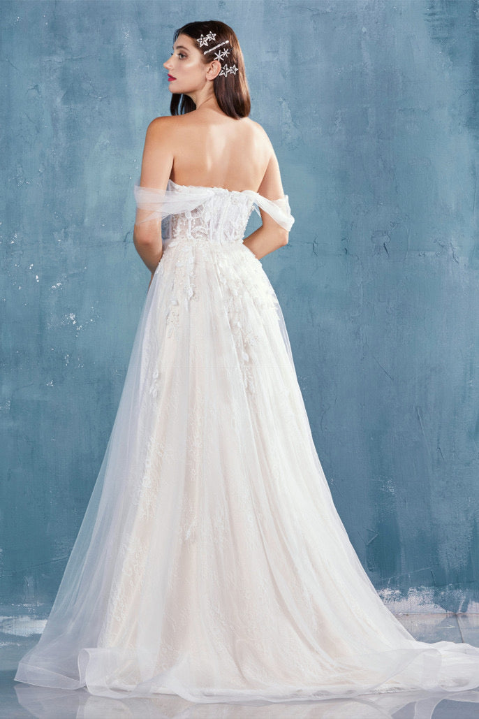 AL Julia Off Shoulder White Gown