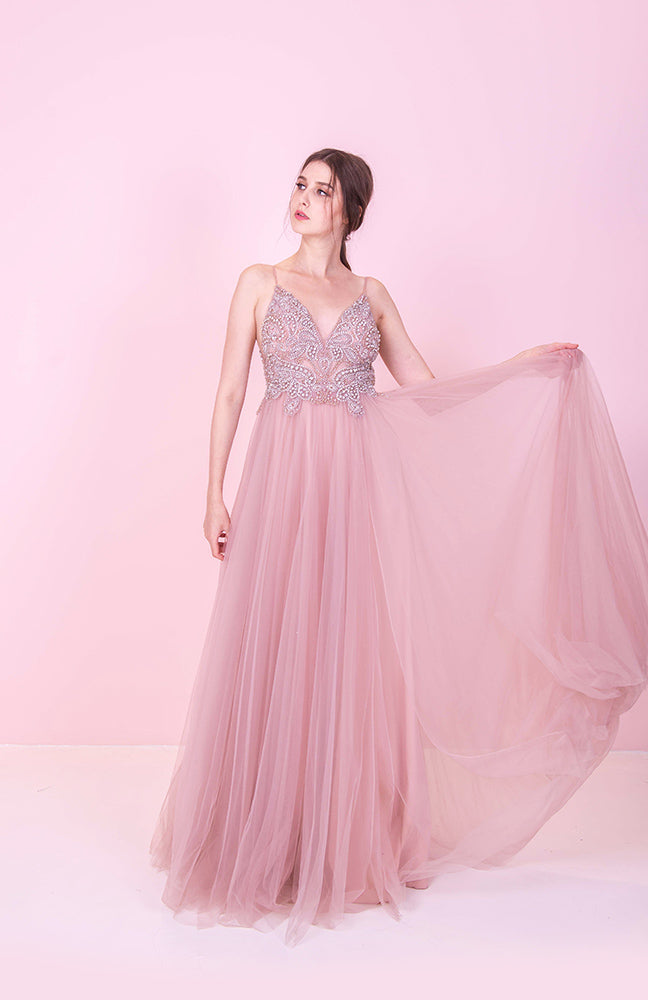 JA Angelic Dusty Pink Gown