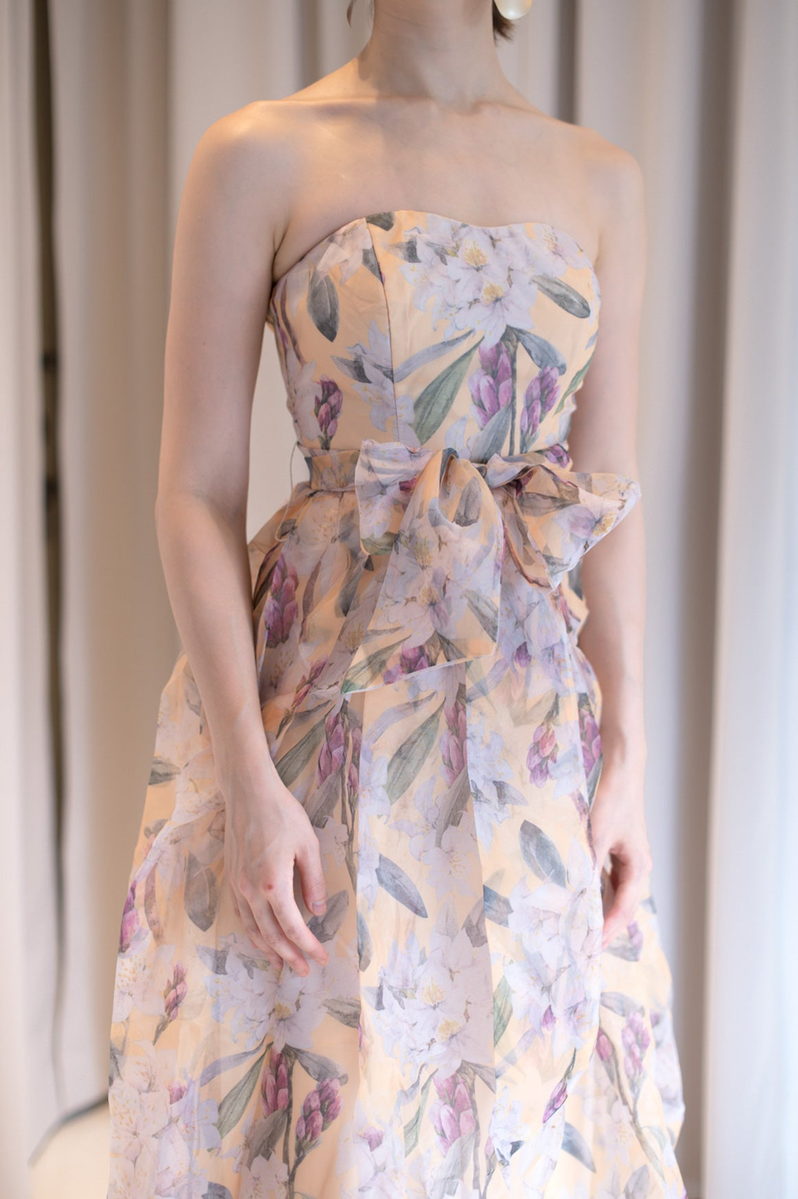 Katiya Floral Tube Long Dress