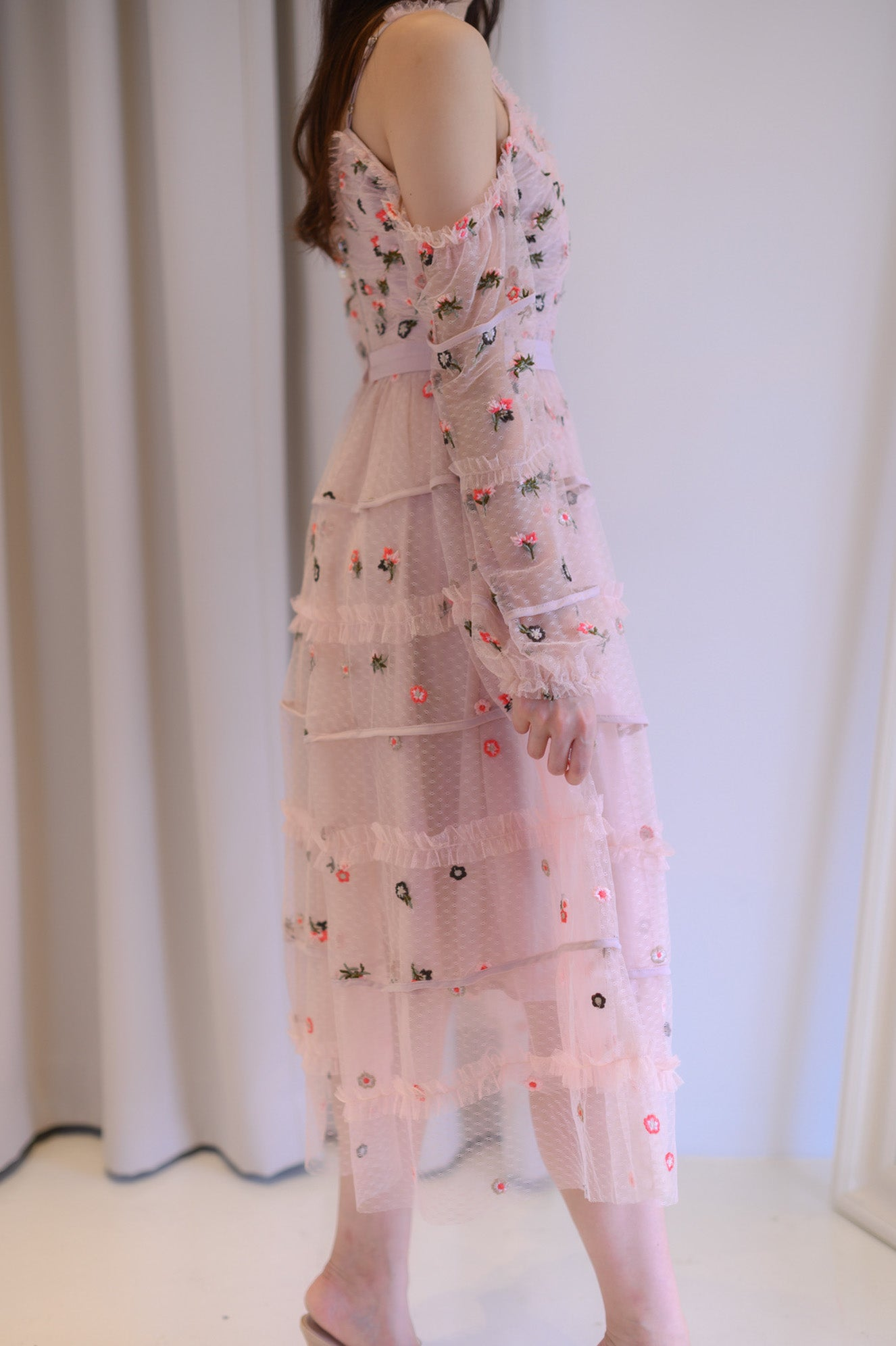 *LAST PIECE* Flowery Garden Pink Dress