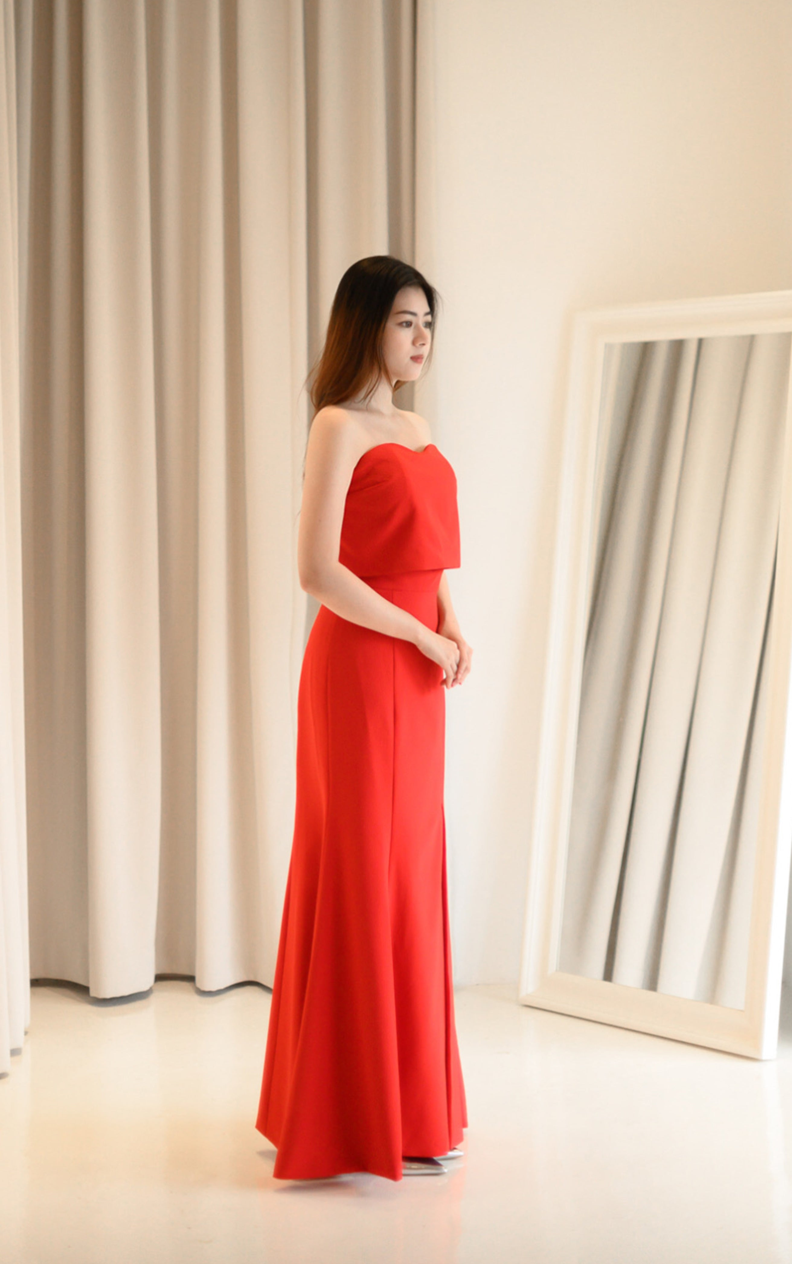 Lite Red Tube Gown