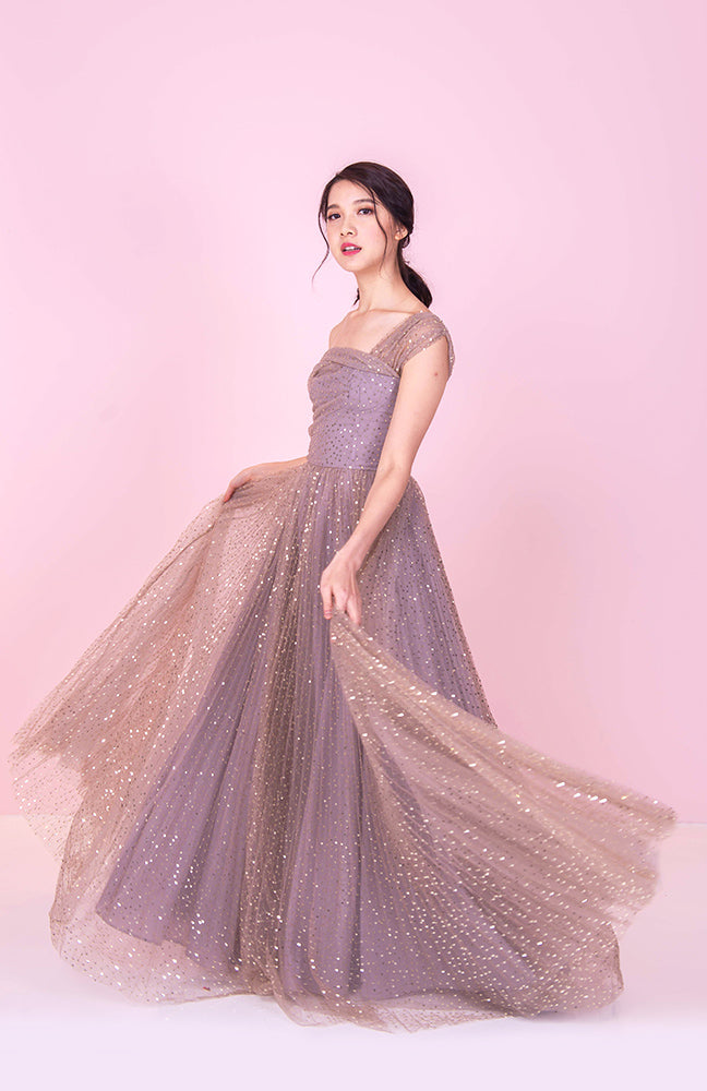 Millions of Stars One Off Shoulder Gown