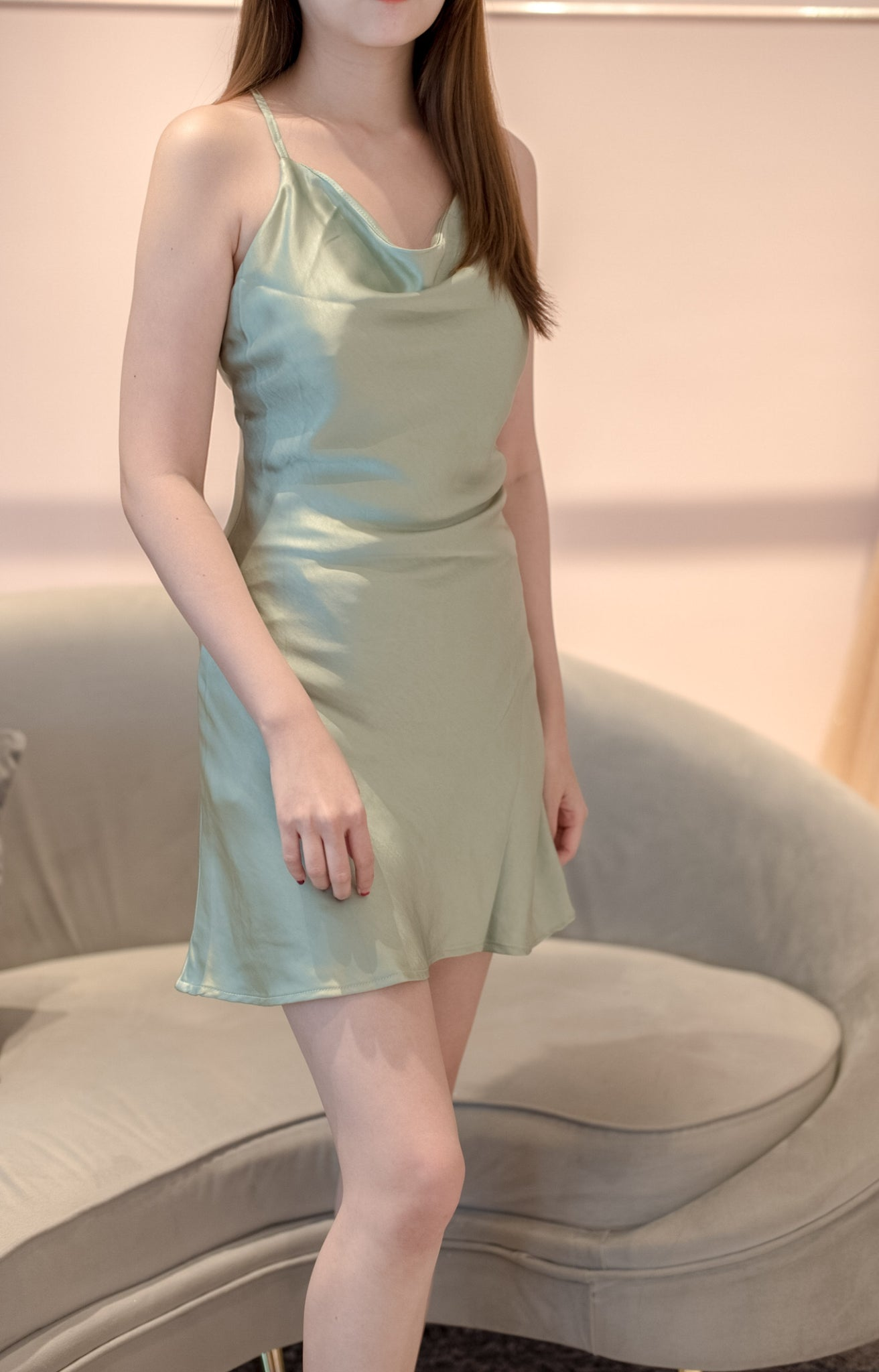 Mint Green Silky Dress