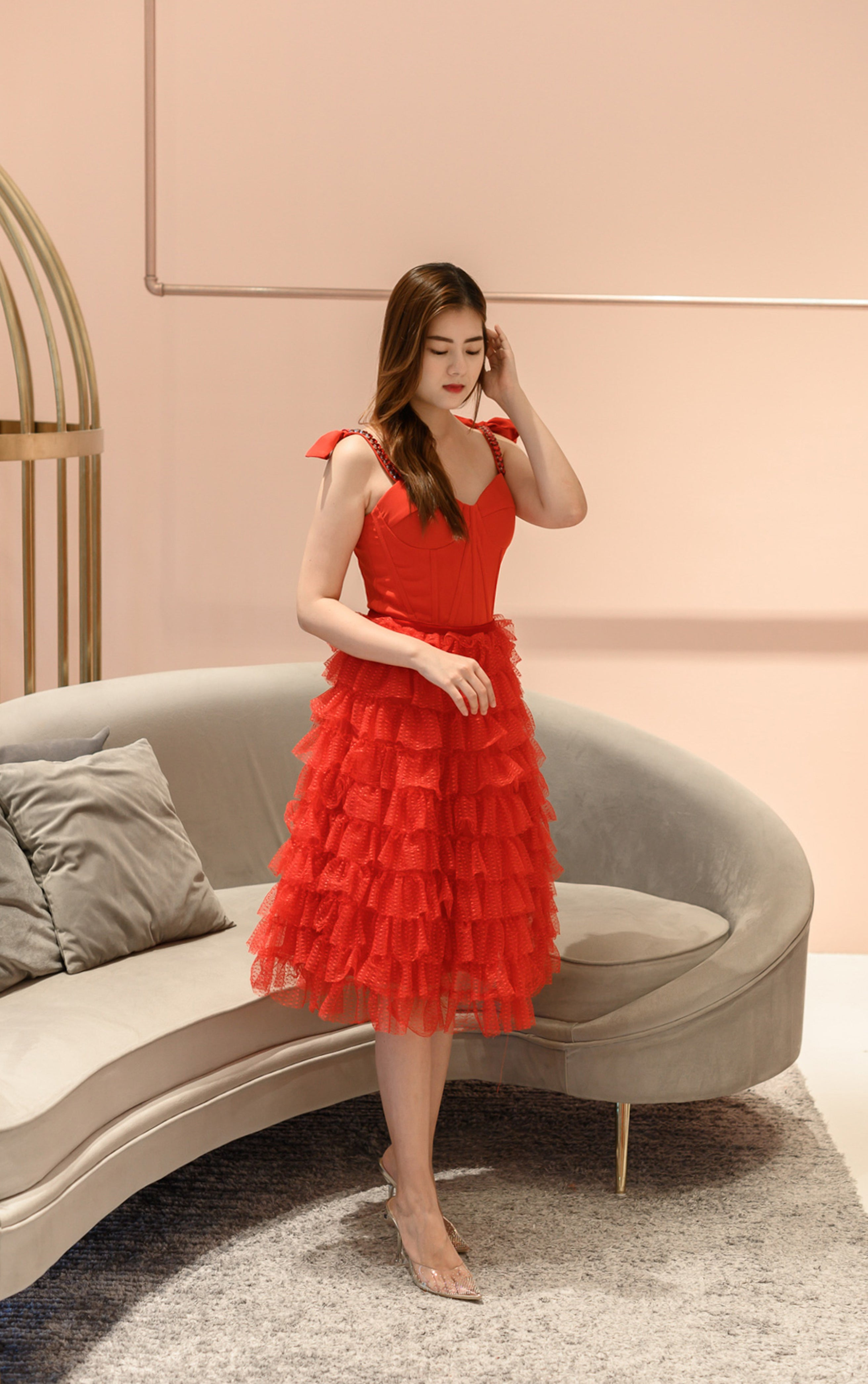 *LAST PIECE* Nico Sweet Red Tulle Dress