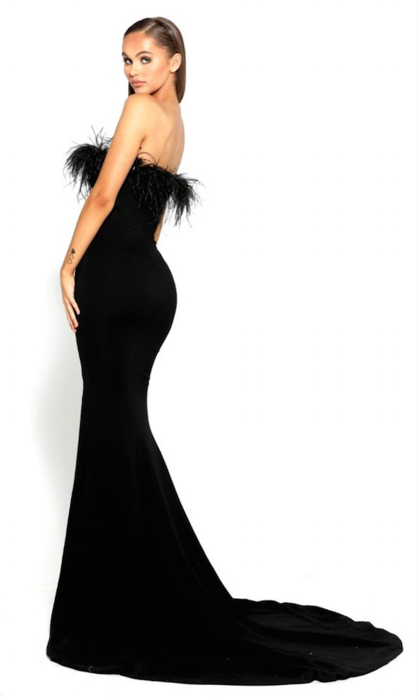 PS Furry Black Gown