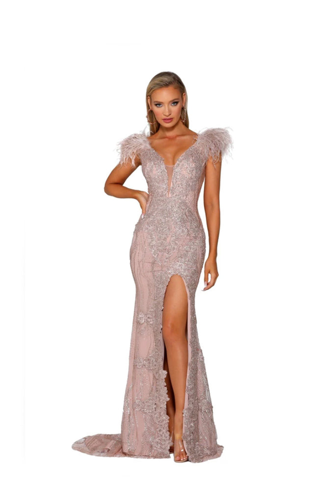 PS Emperor Rose Gold Furry Gown