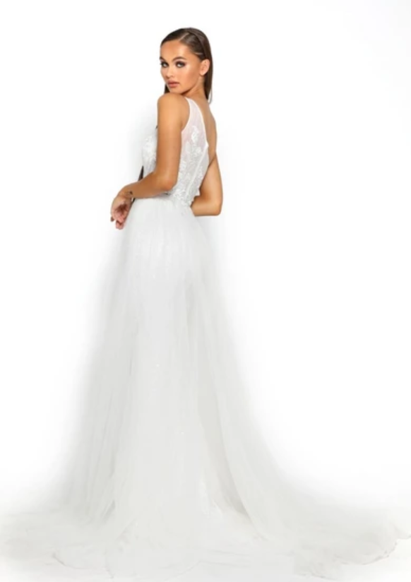 PS Glitters White Gown