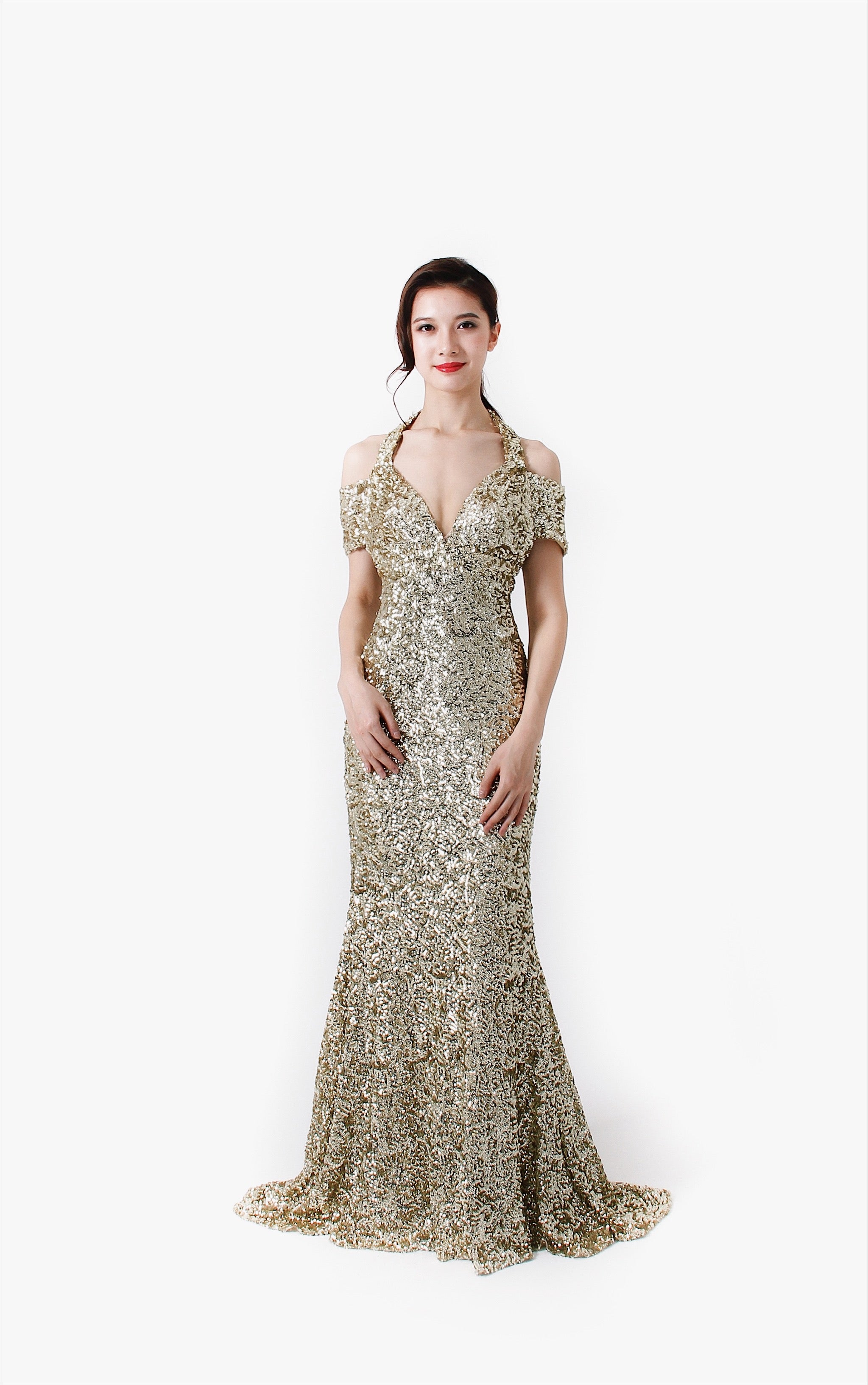 Crystal Pop Gold Dress
