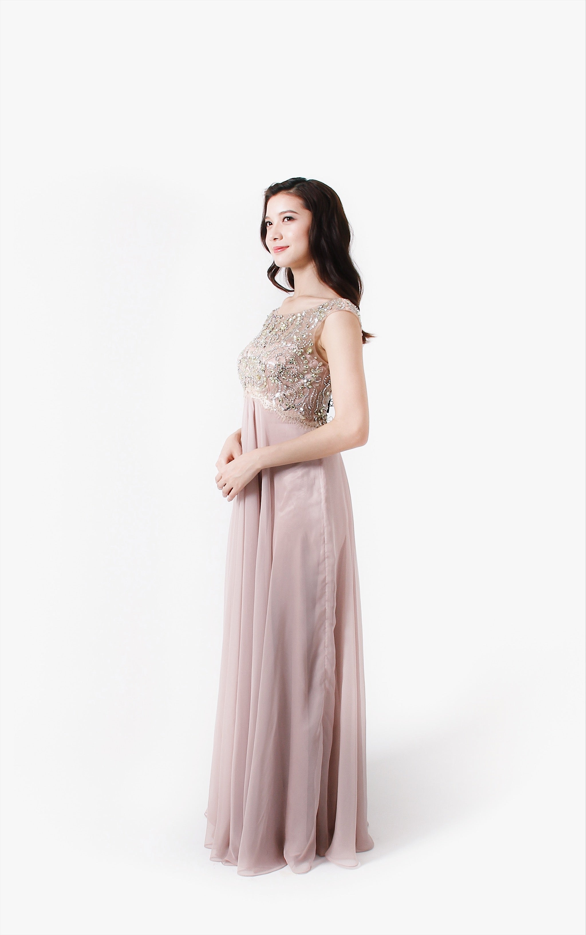 Elegant Encounter Pale Dress