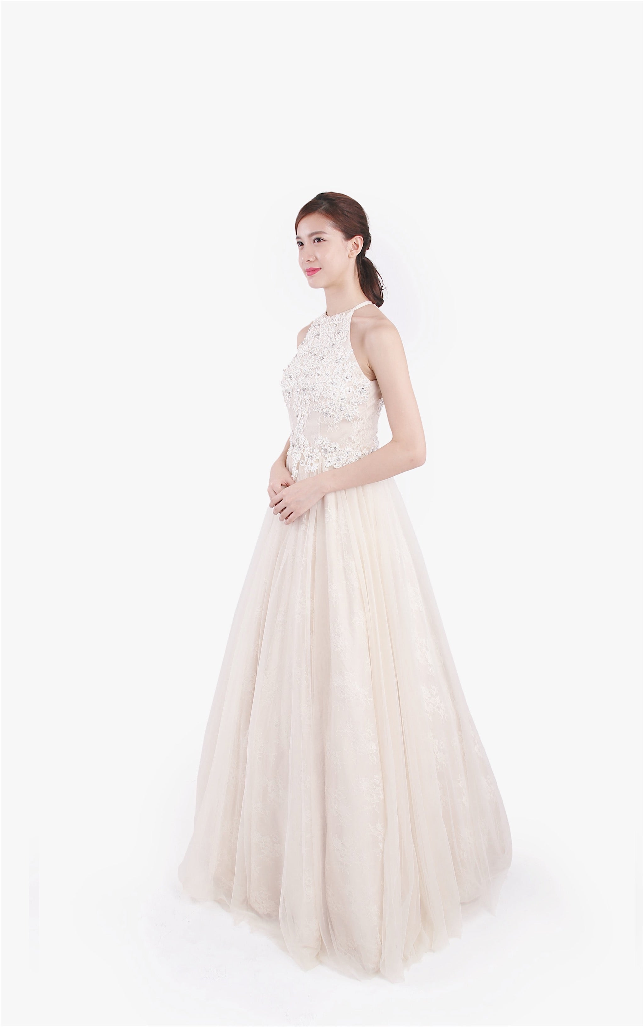Only White Lace Gown