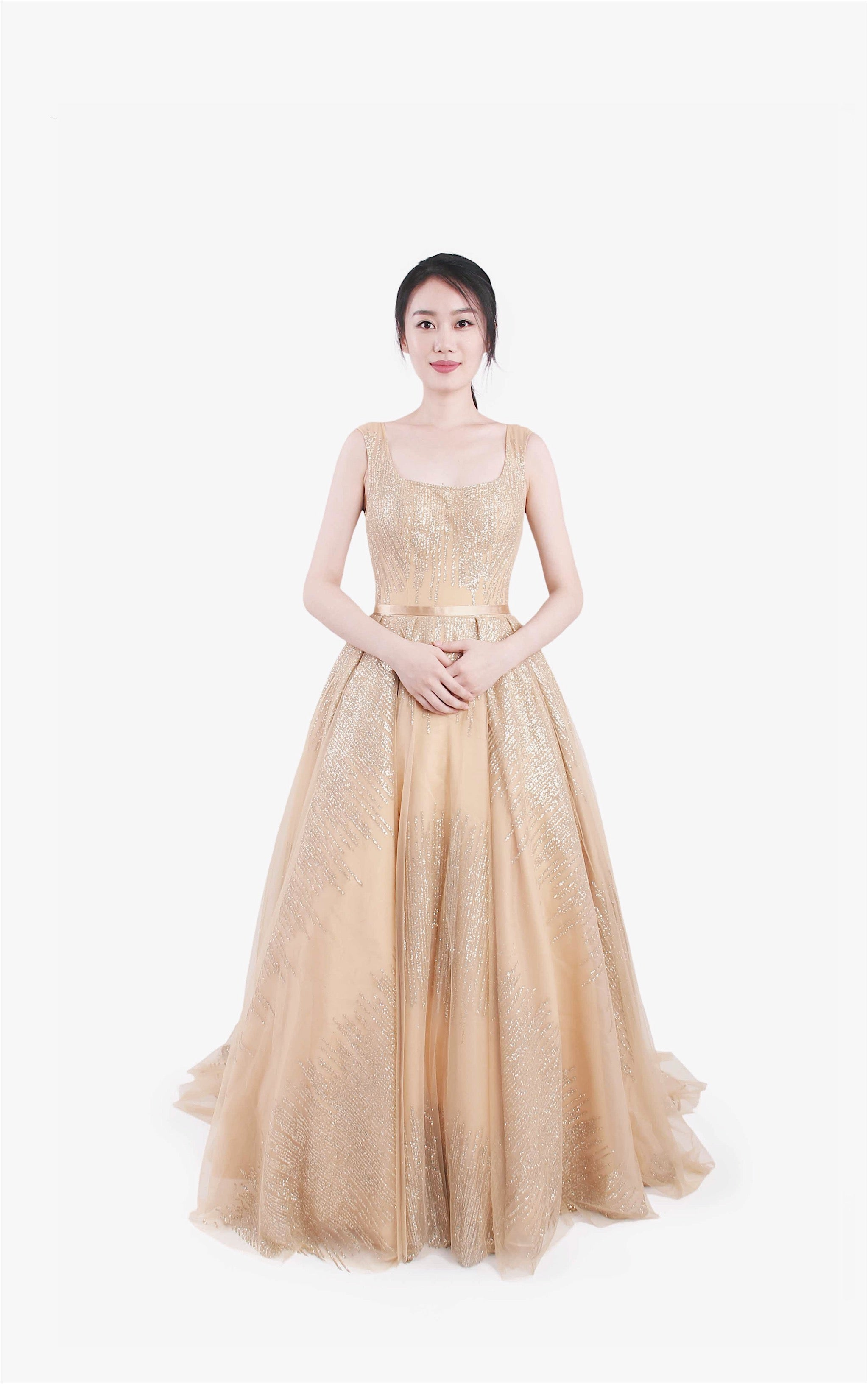 Starlight Golden Gown