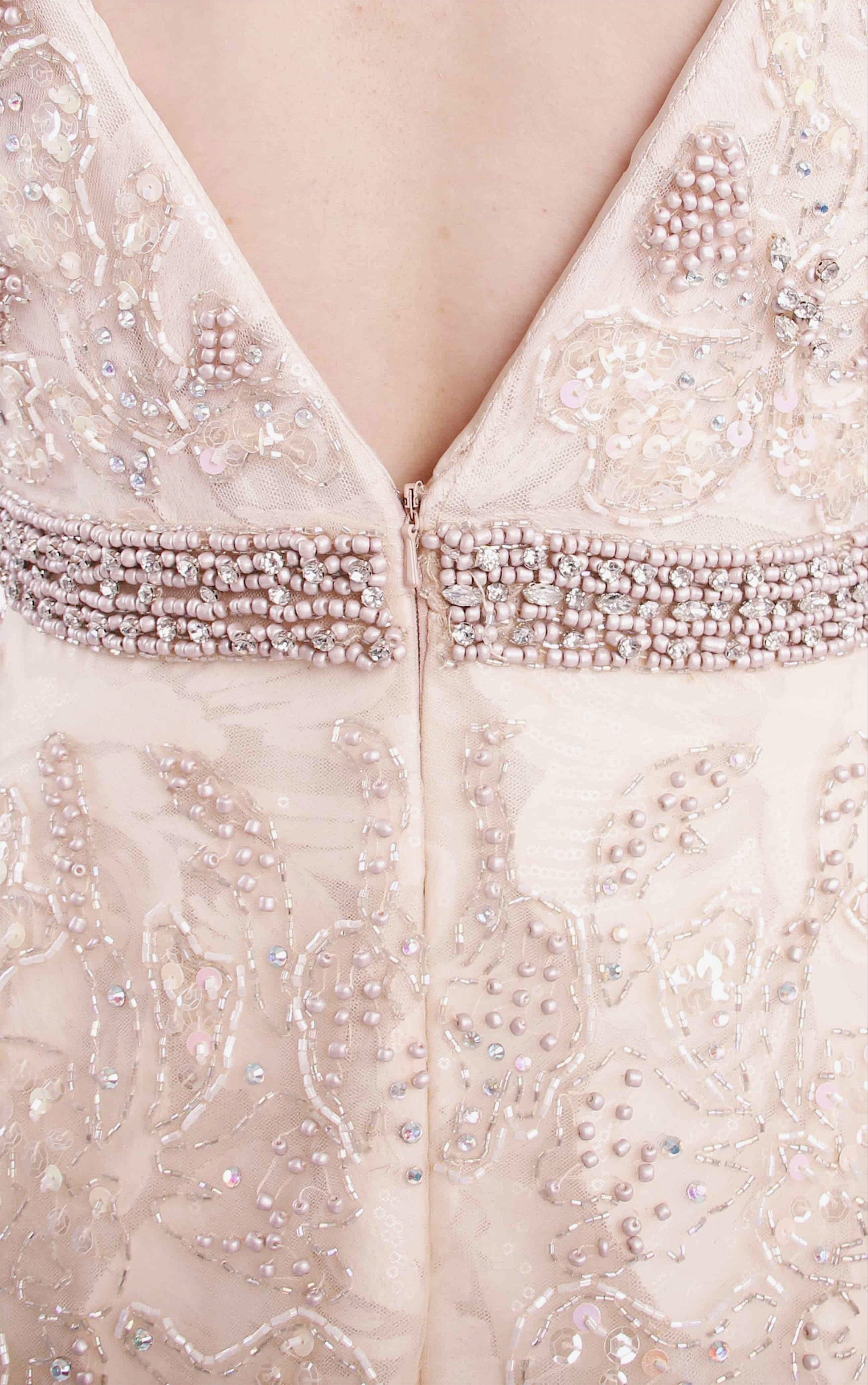 Falling Angel Embellished Gown