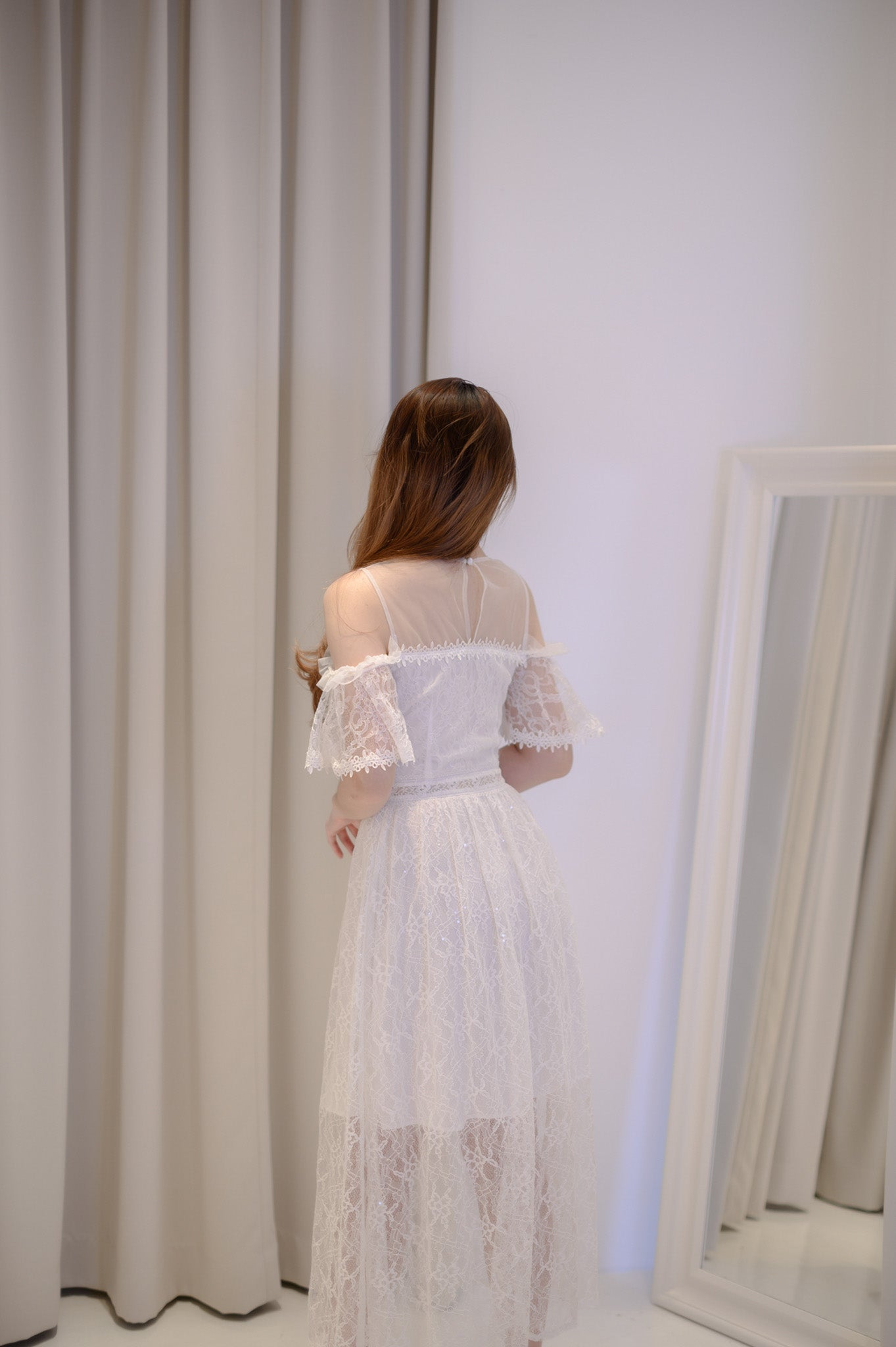 Alice White Off Shoulder Dress
