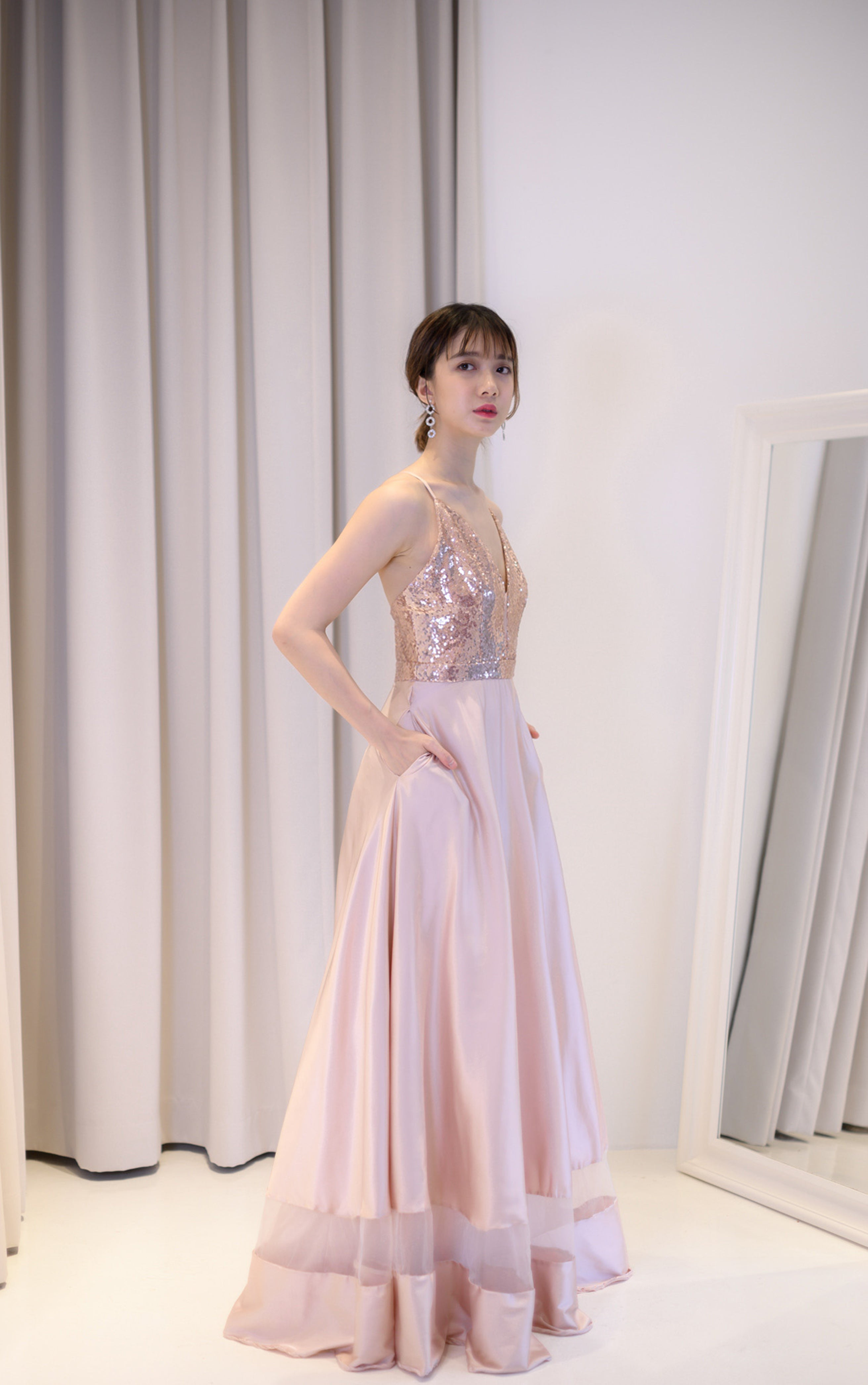Carat Sequin Rose Gold Gown