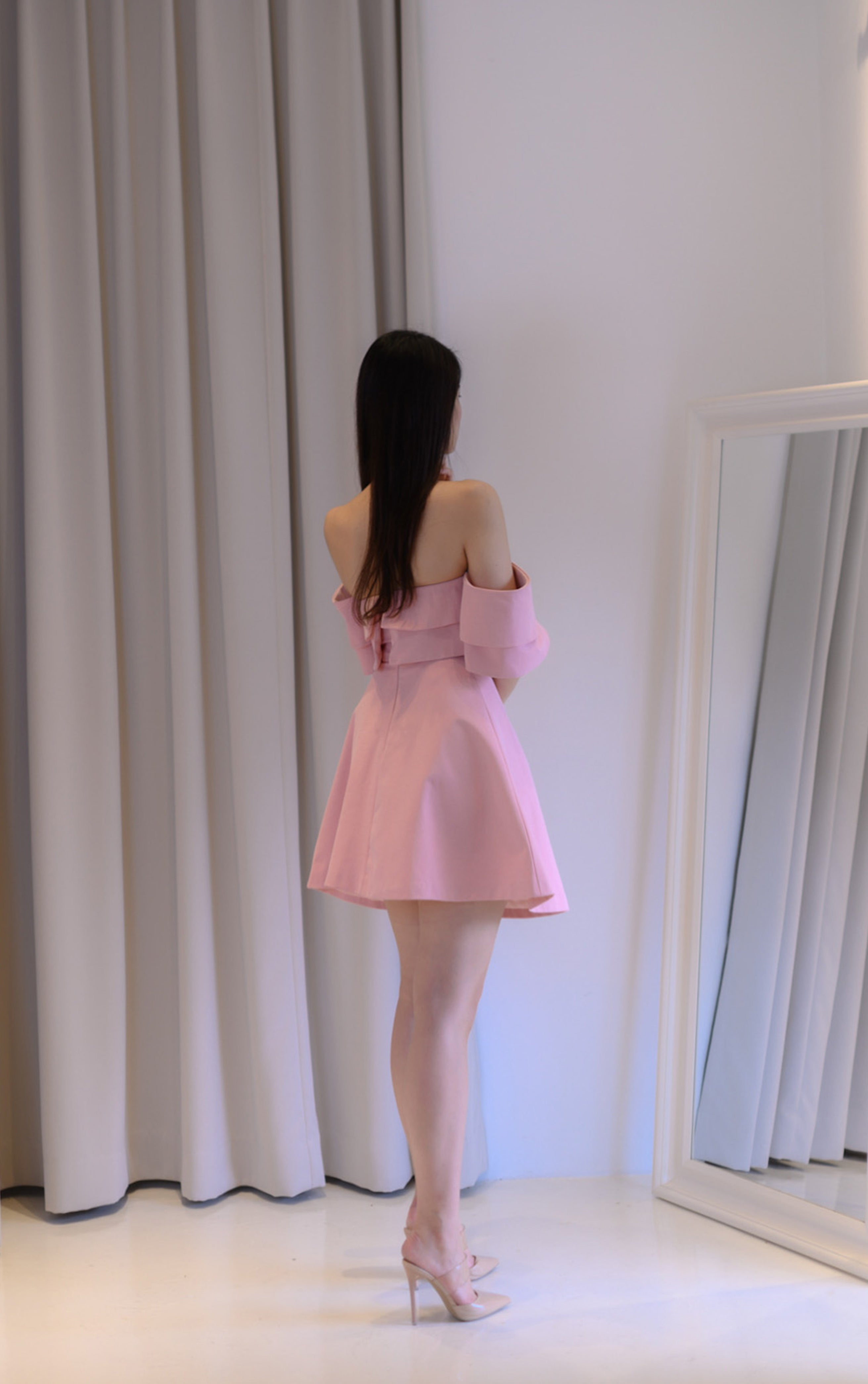 Double Wave Pink Dress