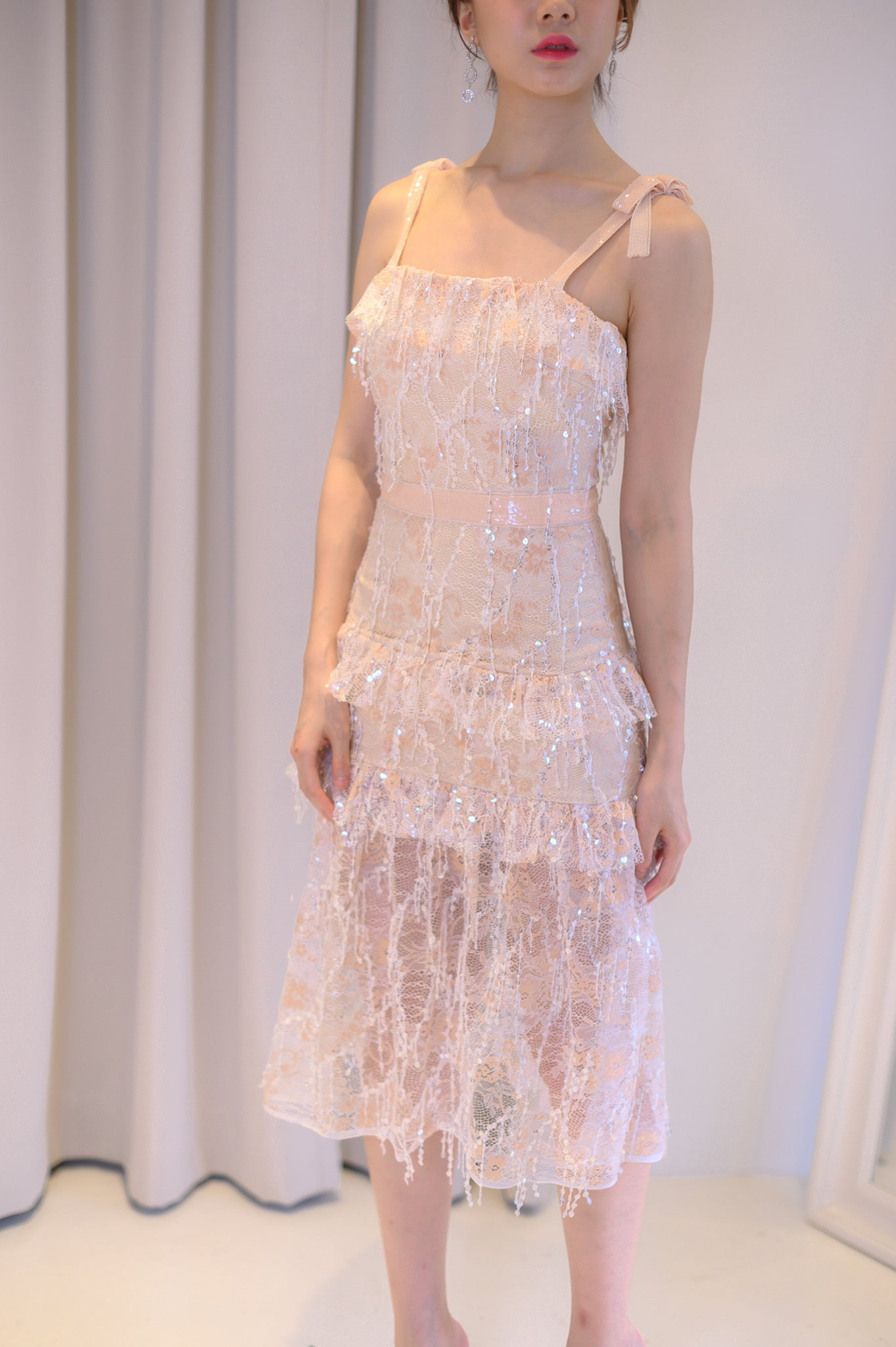 Peachy Lace Dress