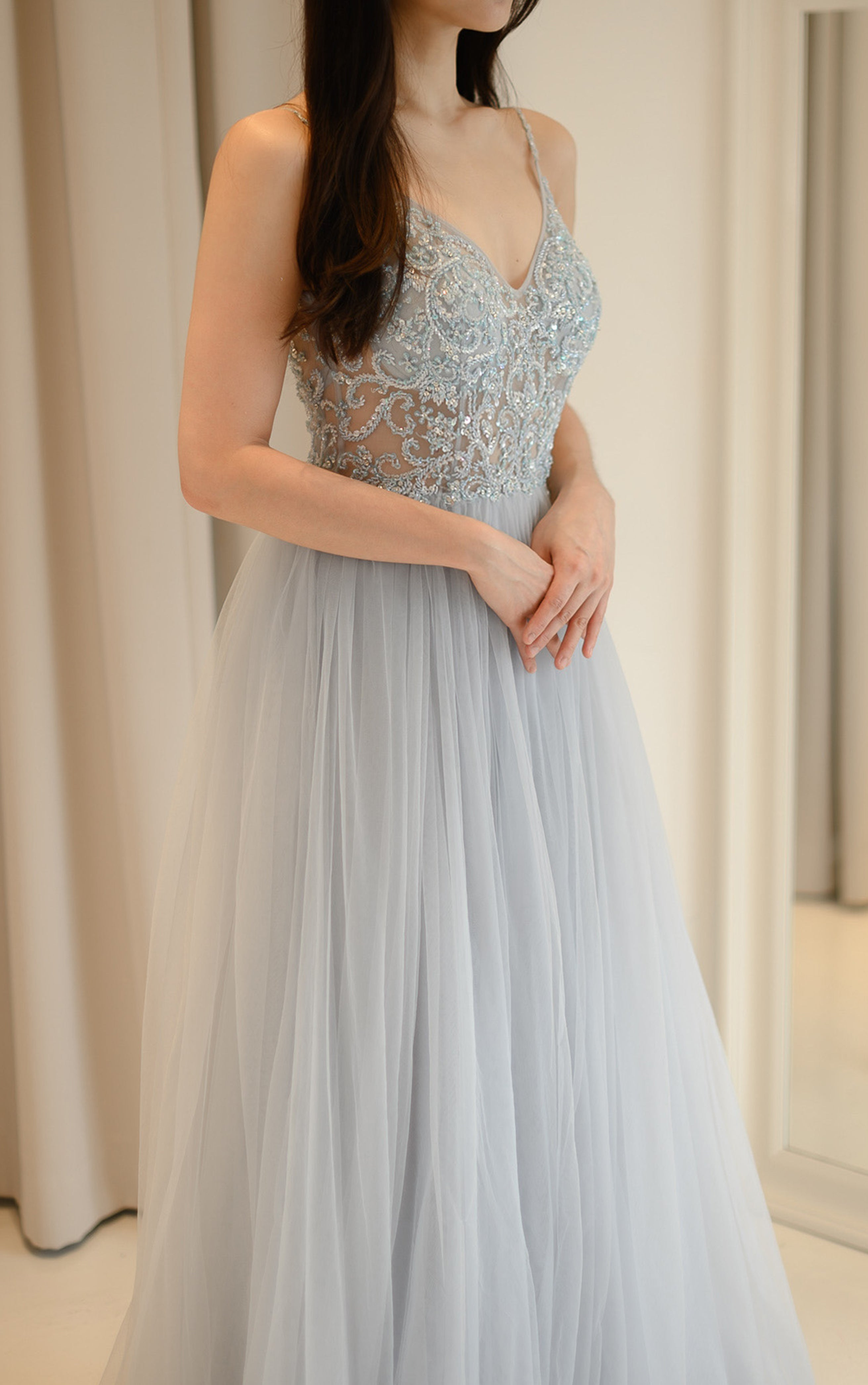 Venus Crystal Light Blue Gown