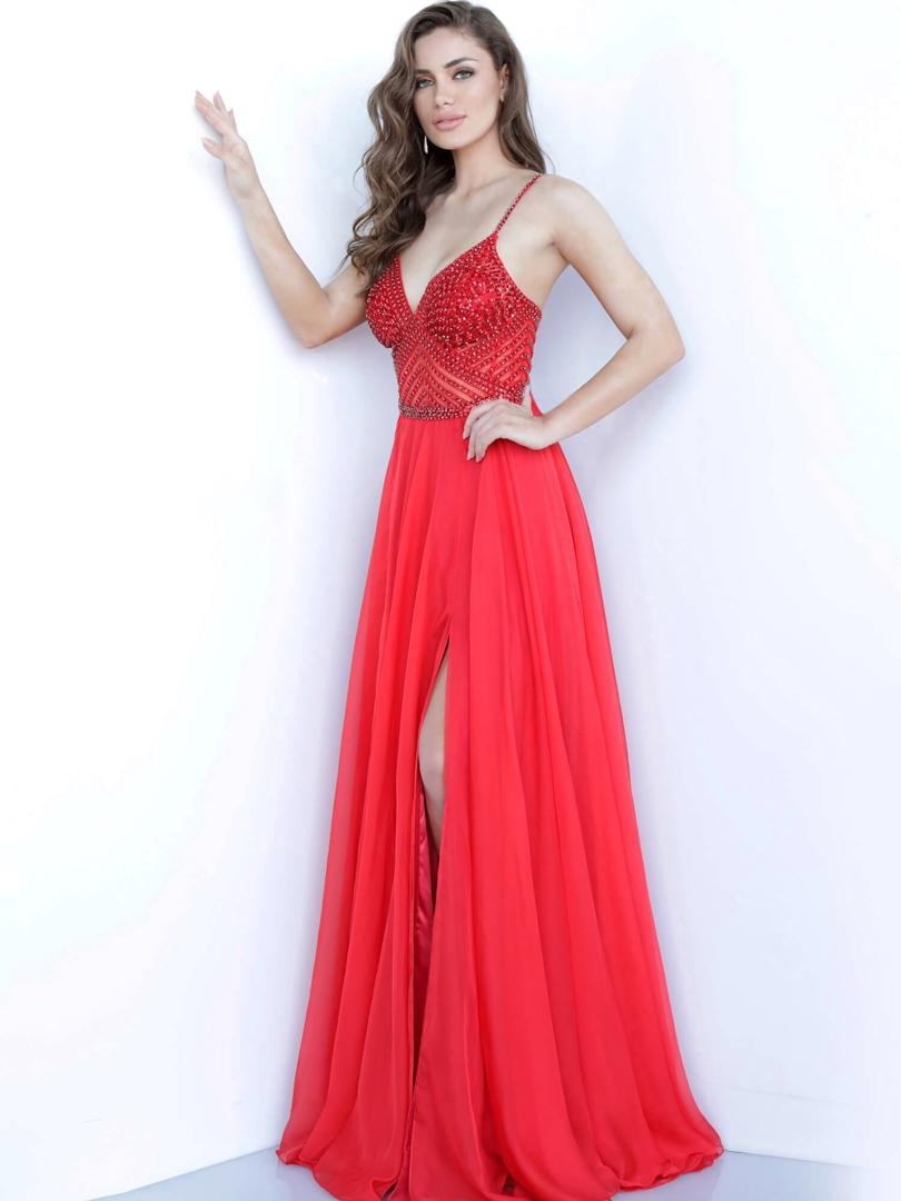 J Red Majestic Chiffon Gown
