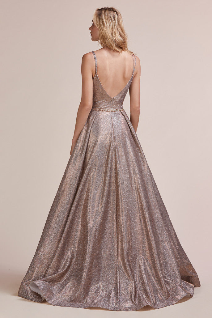 AL Rose Bronze Glitz Gown