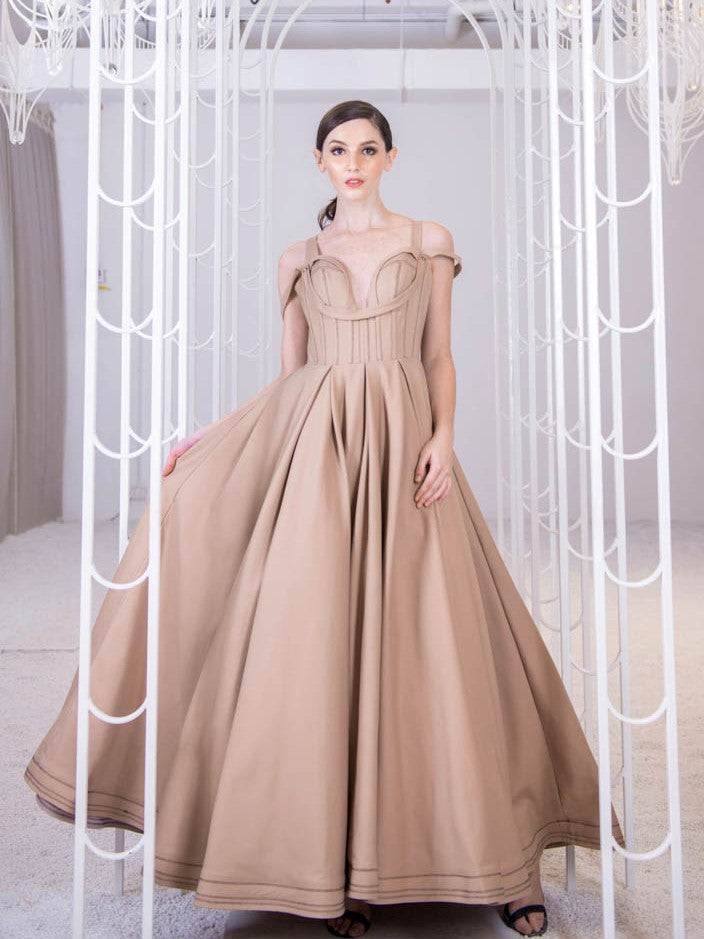 Antique Khaki Gown