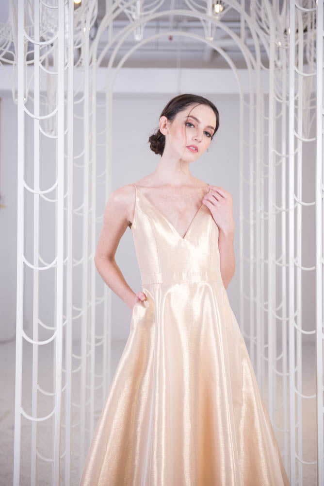 J Aura Soft Gold Dress
