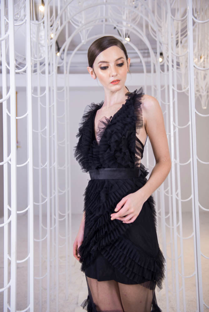 PS Black Ruffle Gown