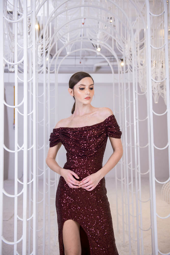 PS Burgundy Gown