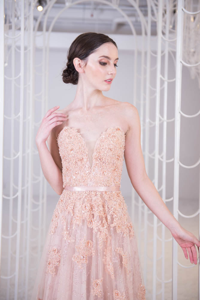 J Cafe Sweetheart Rosy Gown