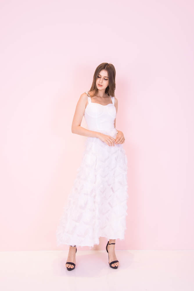 Furry Dreams White Dress
