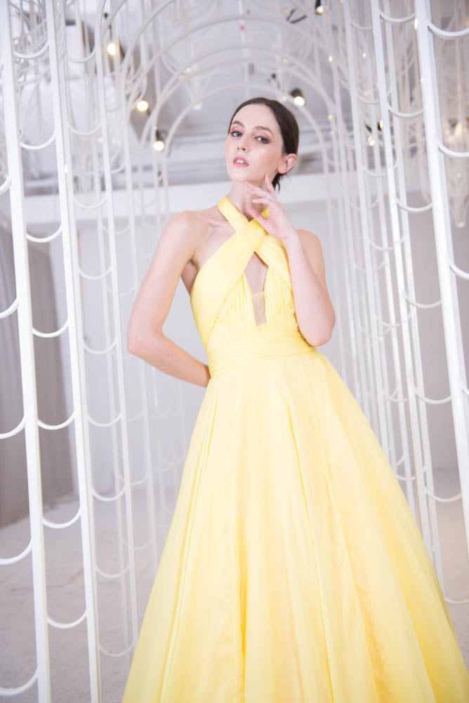 J Dusk to Dawn Yellow Gown