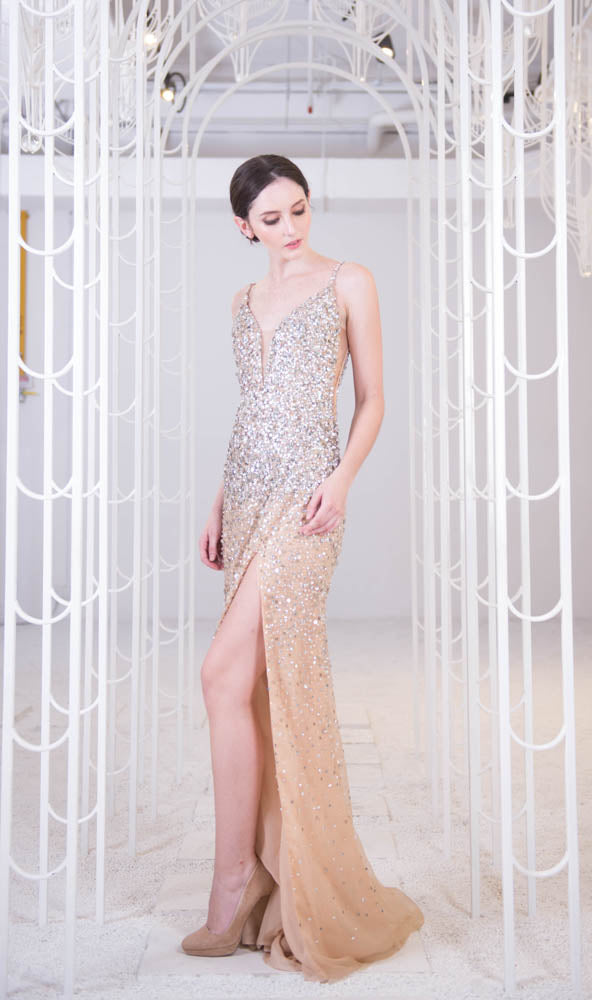J Galaxia Pandora Rose Gold Gown