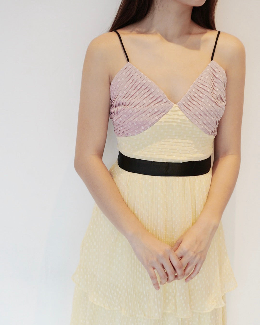 *LAST PIECE* Isabeli Pleated Yellow Dress
