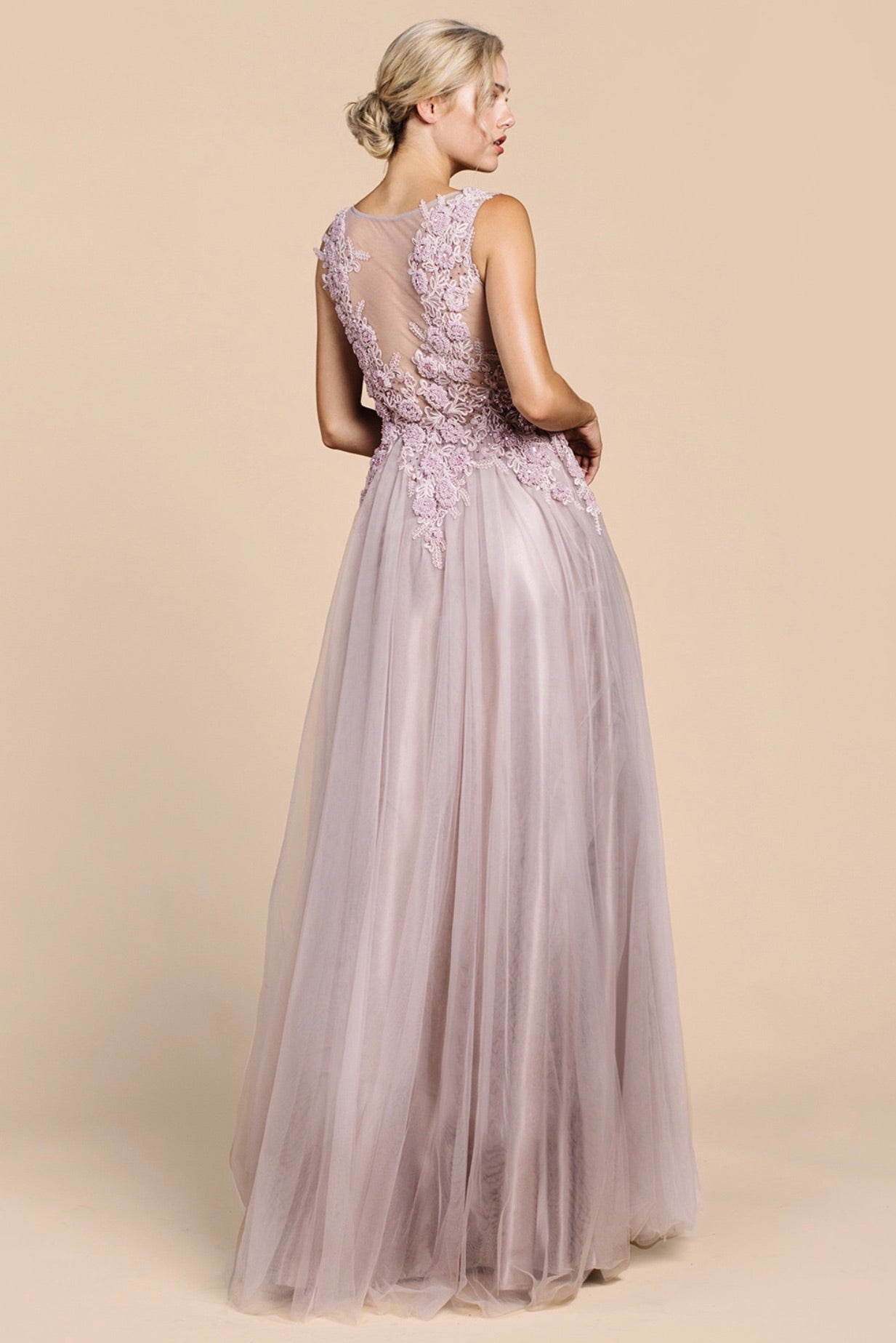 AL Valentine Rose Tulle Gown