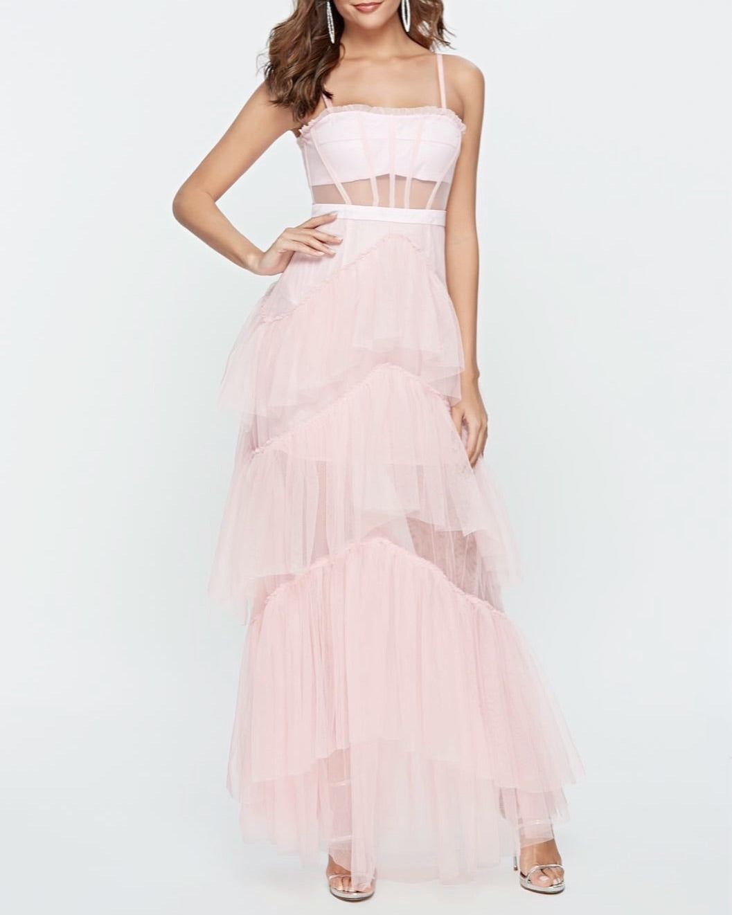 Jane Tulle Pink Layered Dress