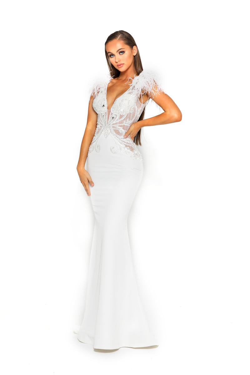 PS Soleil Furry White Gown