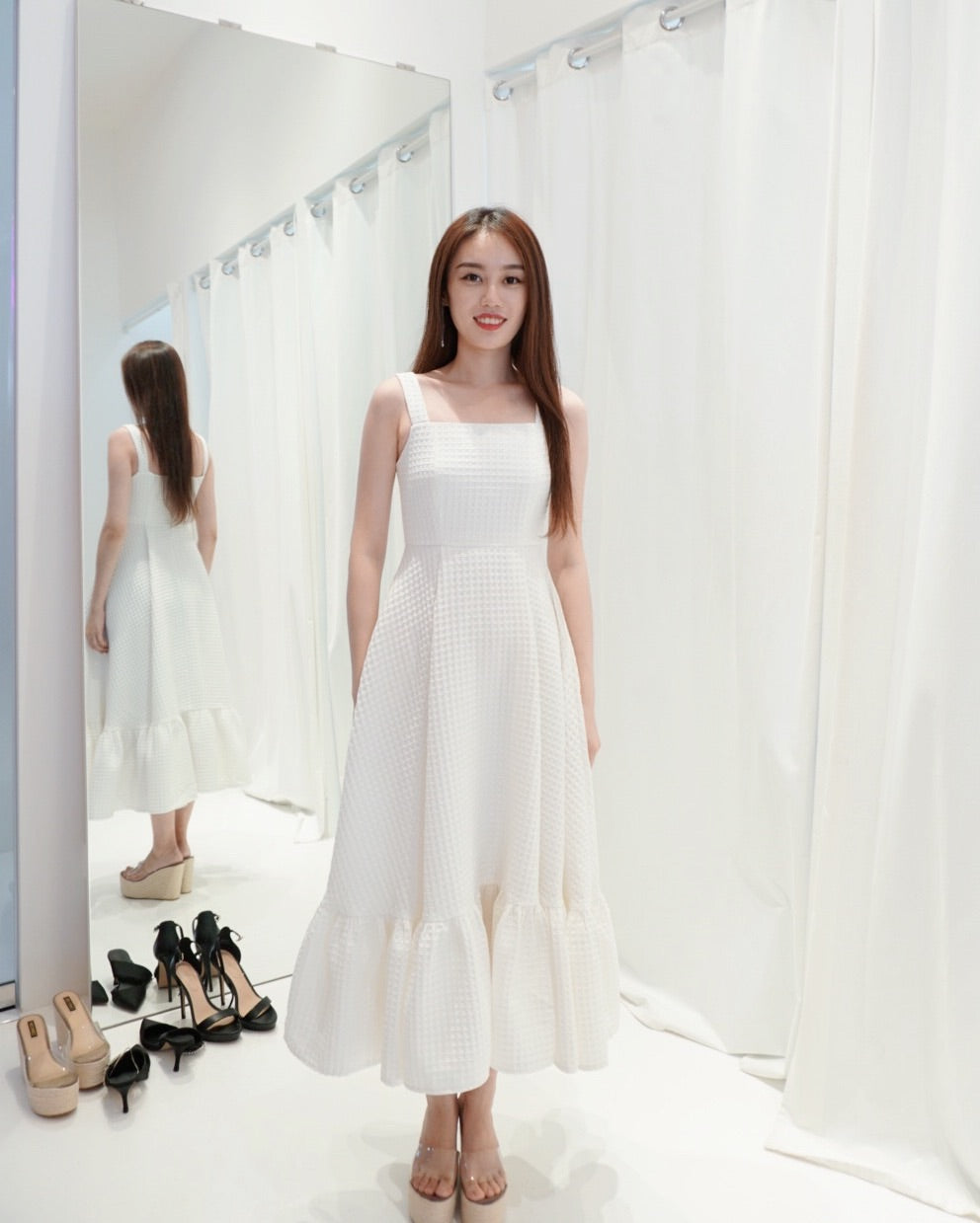 Miranda Flare White Dress