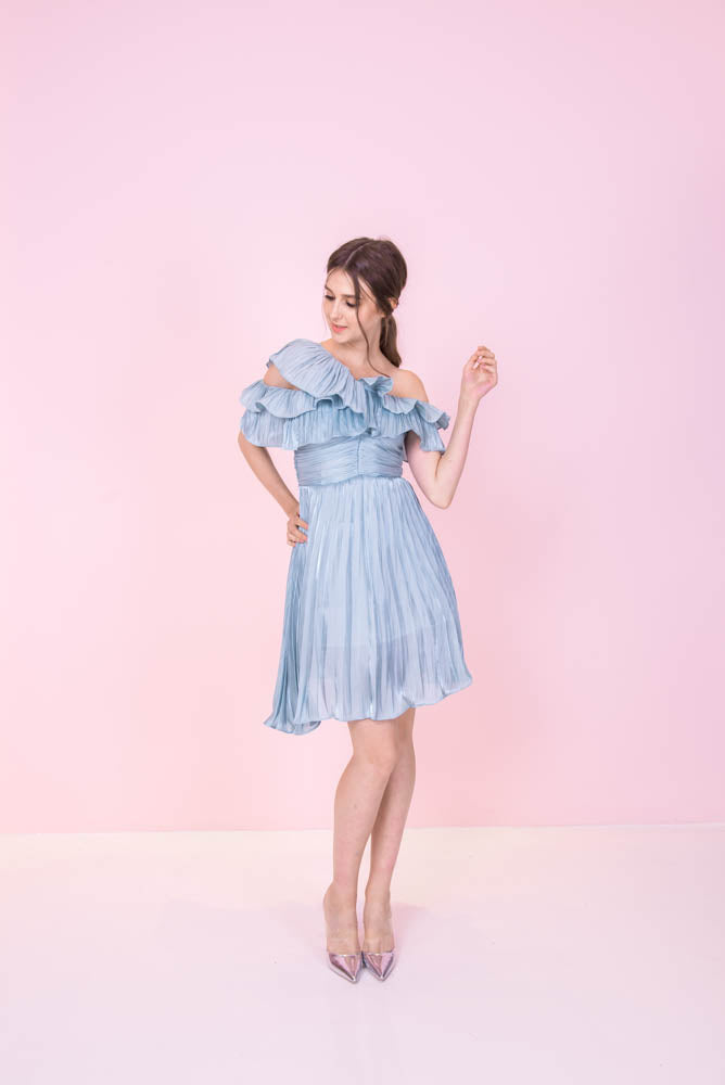 Silky Ruffles Tiffany Dress