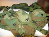 US MILITARY GI TACTICAL LOAD BEARING VEST (ENHANCED) - LBV WOODLAND CAMO SURPLUS (used)