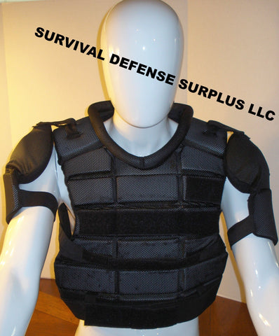 Riot Gear Vest & SHIN GUARDS - UPPER BODY PROTECTION SYSTEM Law Enforcement Surplus used