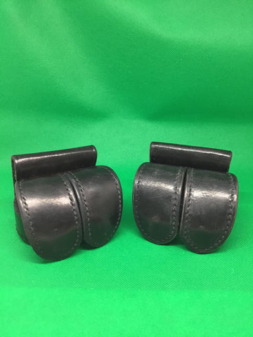 Safari Land 350-2 double revolver speed loader pouches X2 leather Police Law Enforcement Surplus