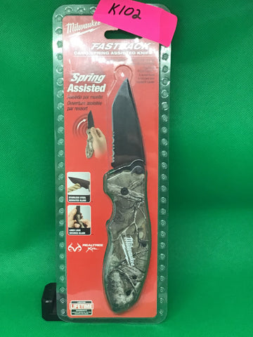 Milwaukee fastback spring assisted camp knife New in package