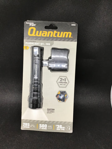Quantum Flashlight 285 Lumens USB Recharging Built in QFL-285