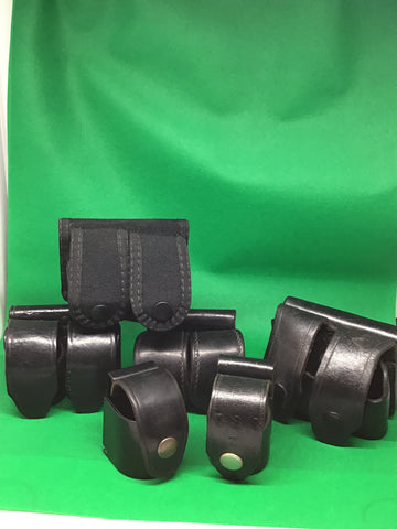 Miscellaneous Revolver Speed Loader Pouches Safariland, HKS , Leather, vinyl,