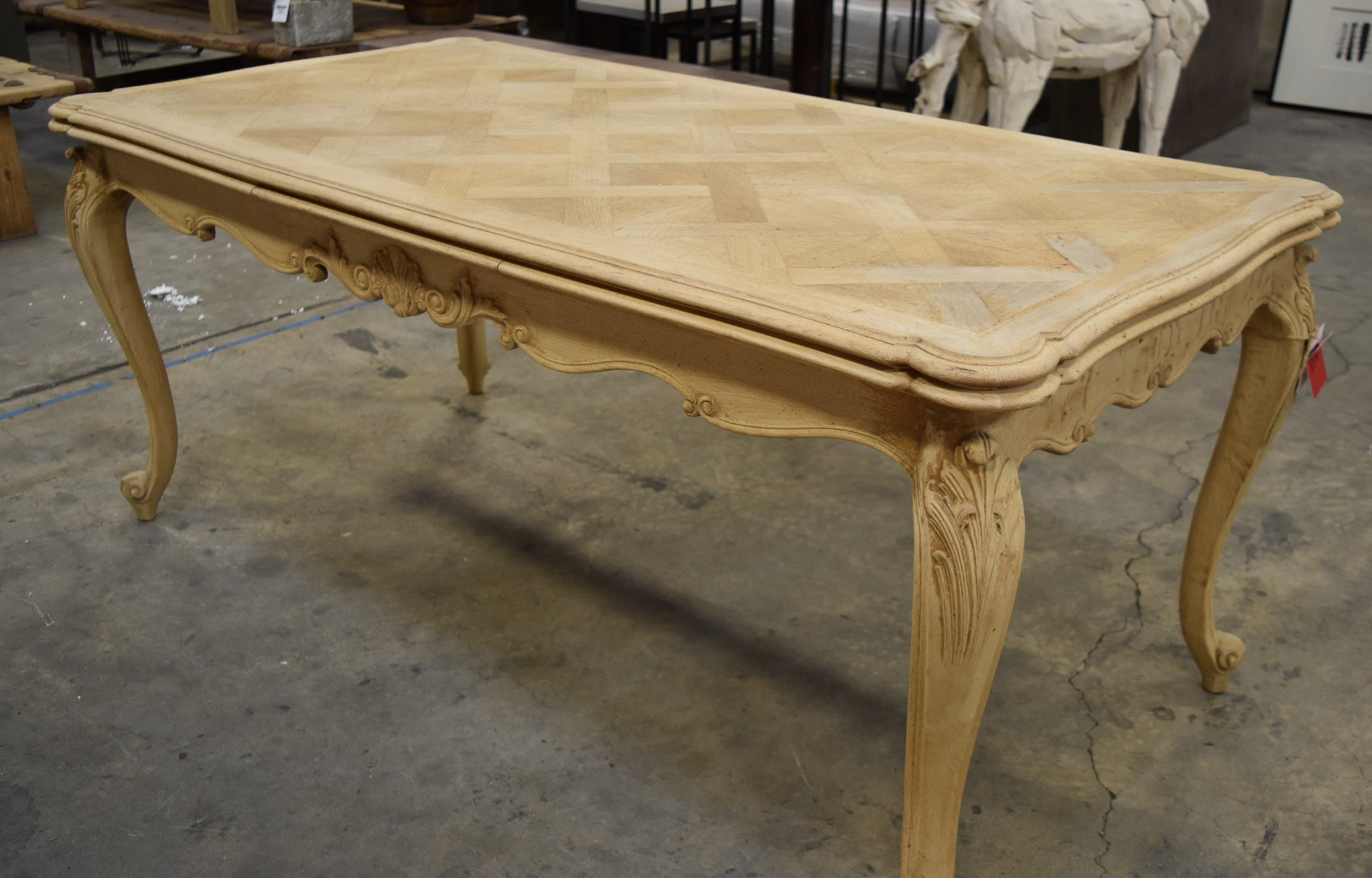 finest selection 85da3 948aa Stunning Bleached Oak Dining Room Table w/ Leaf