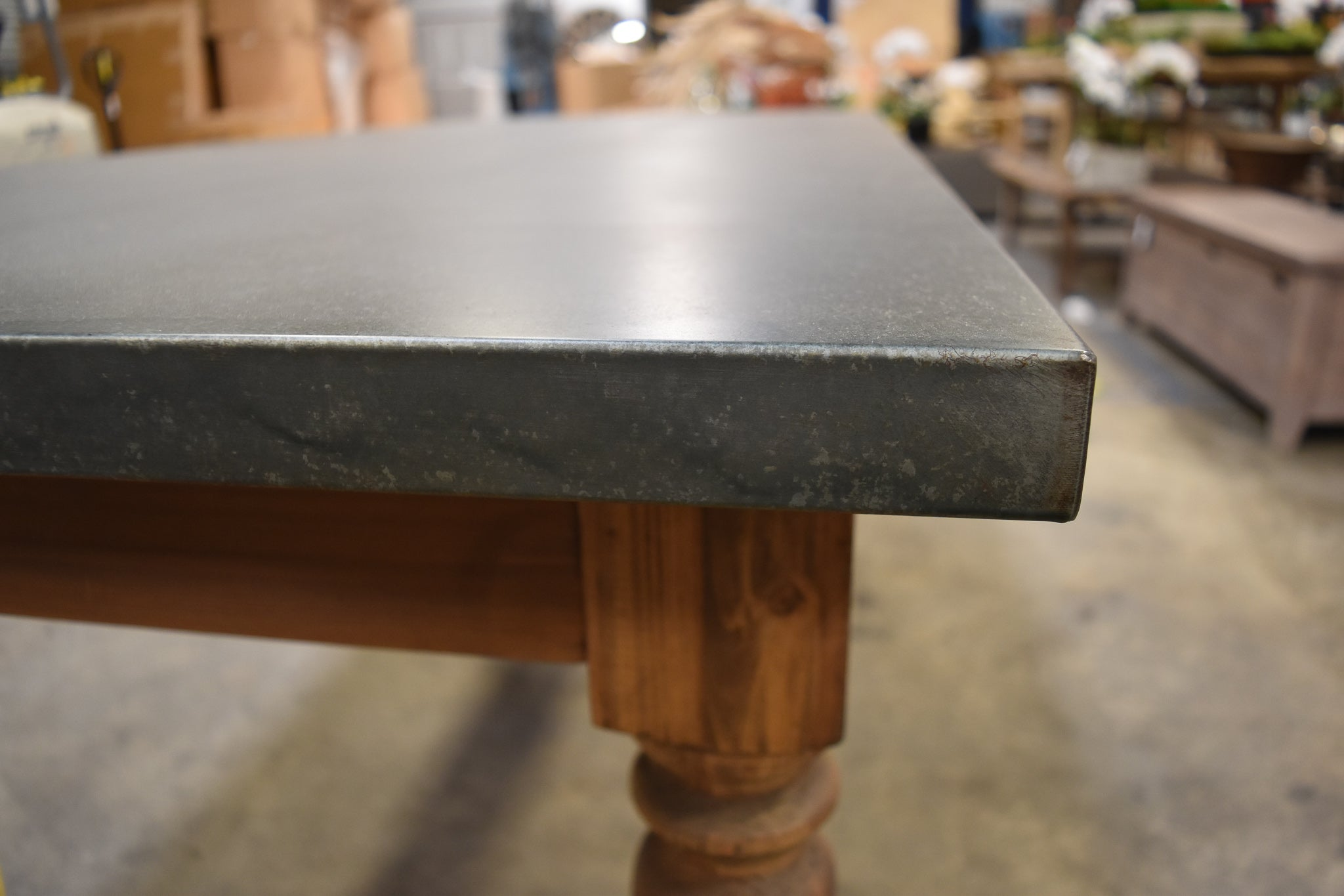 Rustic Farm Table Zinc Top J Turner Amp Co