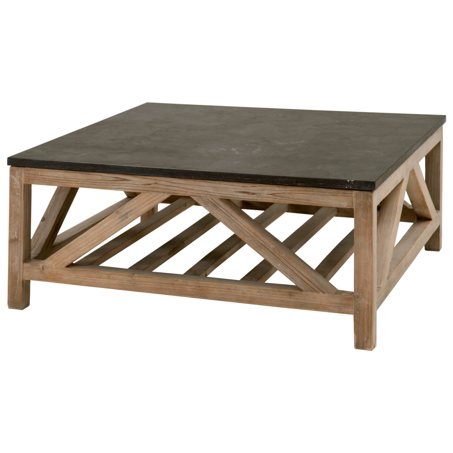 Blue Stone Square Coffee Table J Turner Co