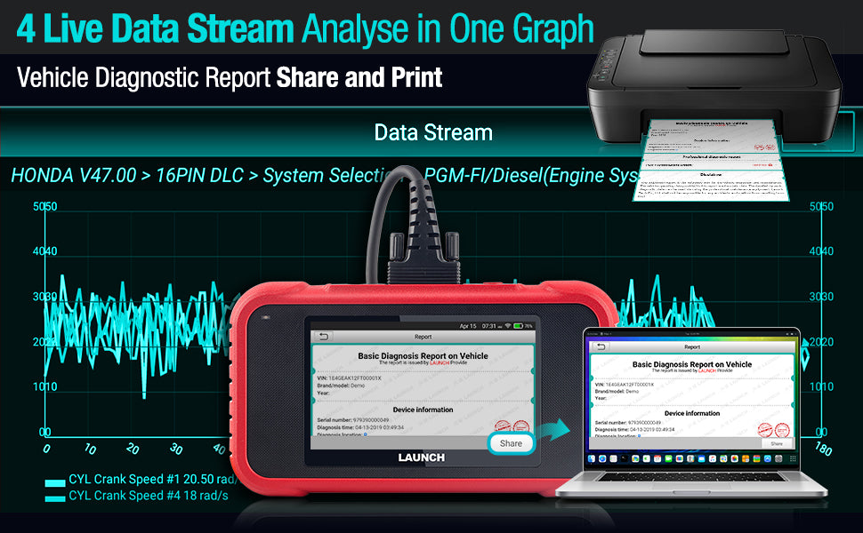 LAUNCH CRP129E ENG SAS ABS AT System Scanner
