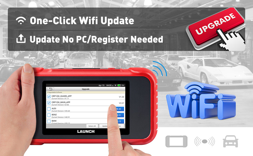 LAUNCH CRP123E ABS SRS AT ENG Scanner WIFI Update